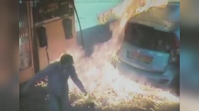 Se vengó prendiendo fuego al tanque de gasolina de un hombre
