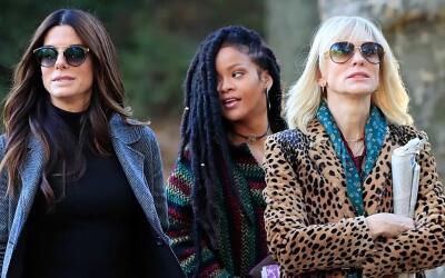 Sandra Bullock, Cate Blanchett y Rihanna llegan al set de Ocean's 8