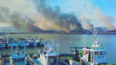 Corea del Norte dispar'o el martes unos 50 obuses contra una isla en la...