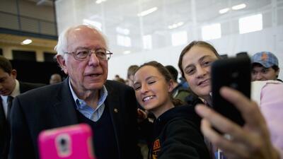El candidato demócrata Bernie Sanders