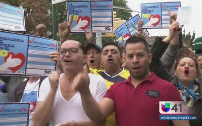 Resultado del plebiscito mantiene dividido al pueblo colombiano