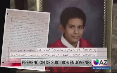Prevención de suicidio en jóvenes
