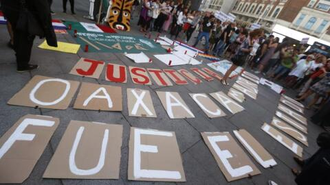 Manifestantes Oaxaca
