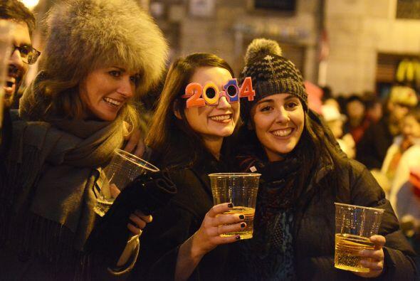 """Las """"chupinas"""" también se hicieron presentes en los festejos de Año Nuev..."""