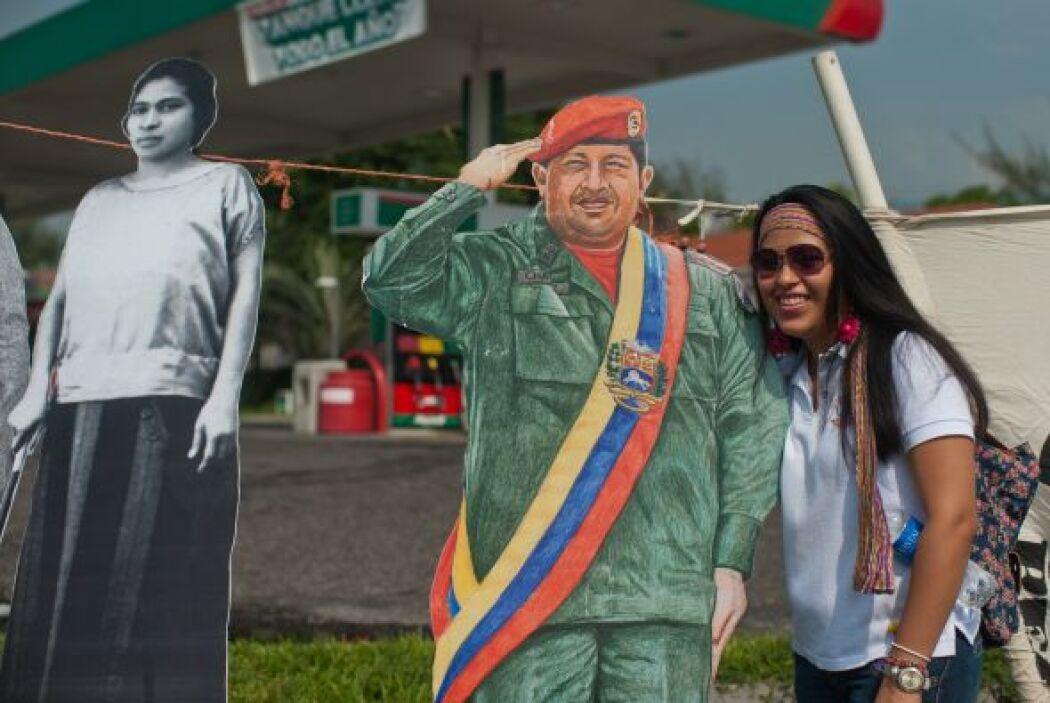 El recuerdo del fallecido expresidente Hugo Chávez se hizo presente en l...
