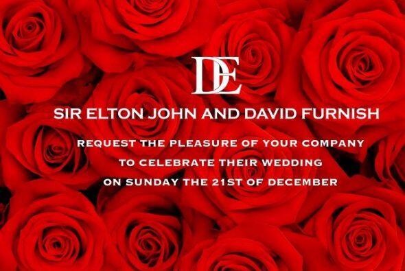 Esta fue la invitación que la pareja compartió en redes sociales.