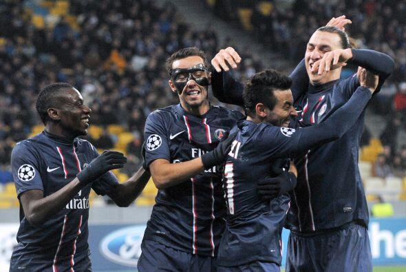 Por su parte, el París Saint-Germain fue superior al Dinamo de Kiev con...