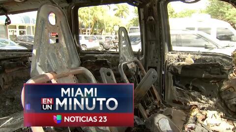 'Miami en un Minuto': autoridades investigan el quinto incendio de un ve...