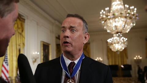 Tom Hanks, nominado al Globo de Oro en ocho ocasiones anteriores y ganad...