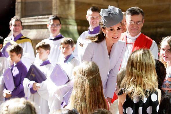 Durante la ceremonia religiosa tanto Kate como Guillermo de Cambridge fi...