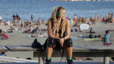 Antes sacaban a Shakira cargando, pero ahora no deja de brincar en el es...