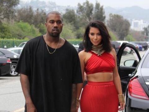 Así llegaron Kim y Kanye al brunch de los Grammy.