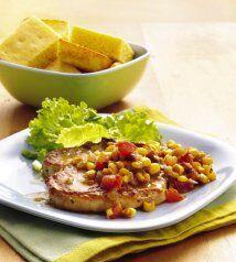 Chuletas de puerco con chile y elote: Para tu próxima cena en fam...