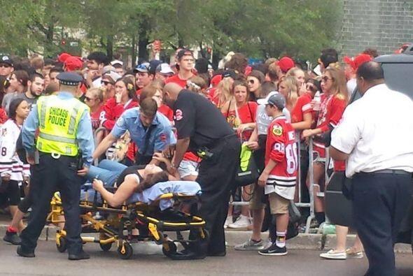De inmediato llegaron los equipos de auxilio.