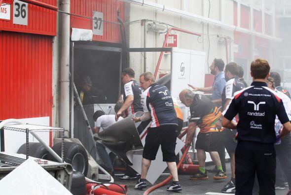 Lamentablemente este incidente opacó la victoria de Maldonado.