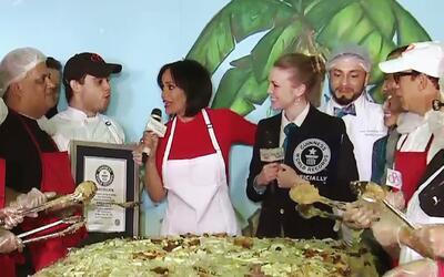 Despierta América estableció el Récord Guinness del mangú más grande del...