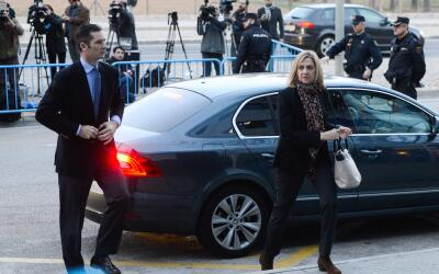 Iñaki Urgandarín y la infanta Cristina de Borbón