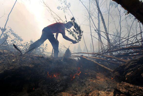 Ola de calor en Rusia. Durante 2010, este país sufrió la p...