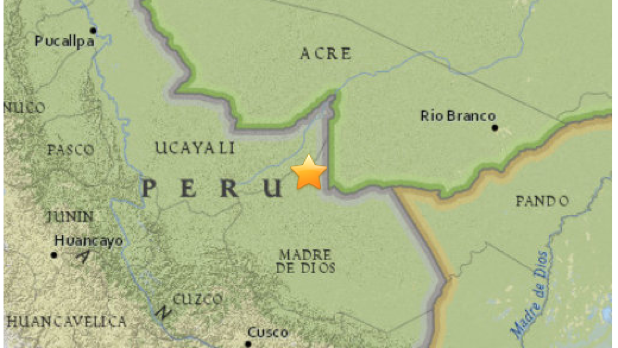 Mapa sismo Perú