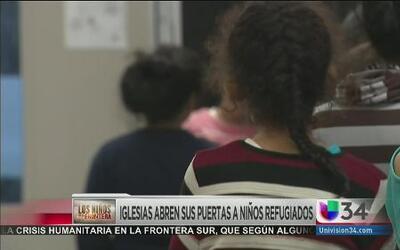 Iglesias abren sus puertas a niños refugiados