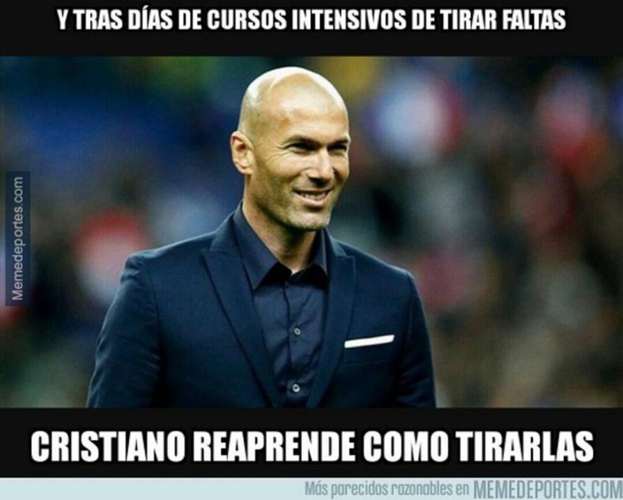 No faltó el humor tras el póker de Ronaldo en la paliza del Madrid al Celta