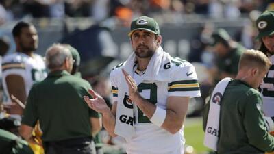 El quarterback de los Packers brilló en la victoria ante los Bears (AP-N...