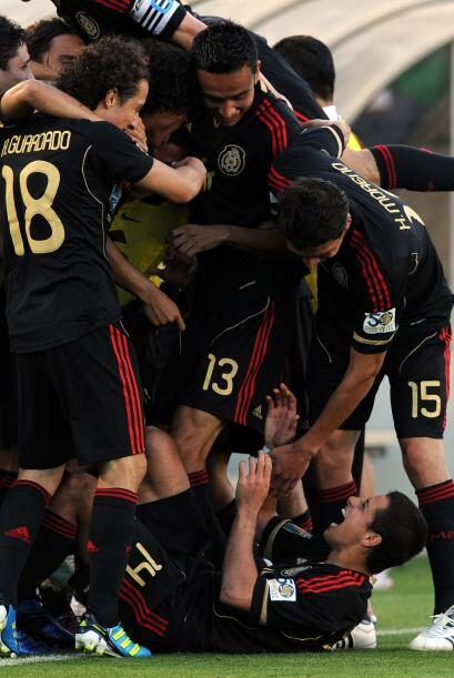 El cuarto gol se celebró con todo el grupo, ya que el título de la Copa...
