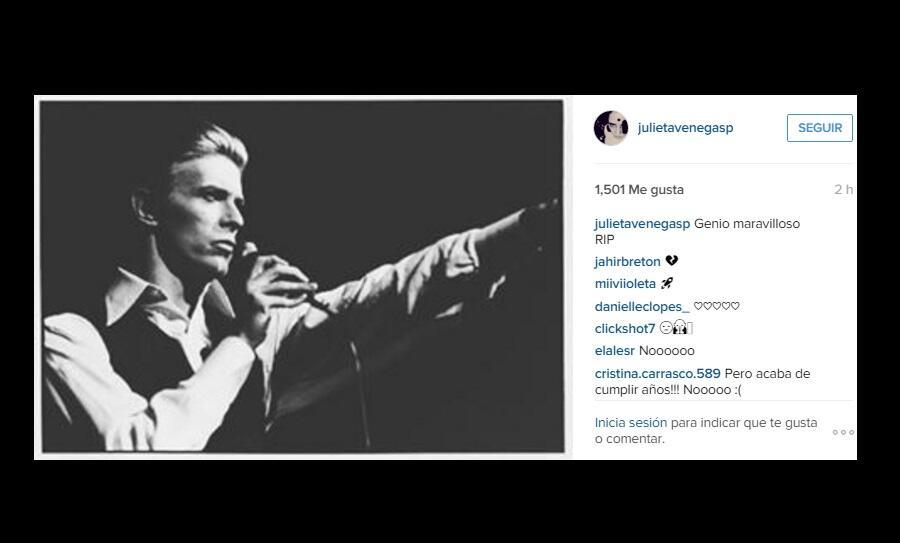 David Bowie y Julieta Venegas