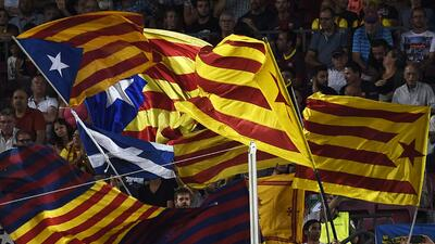 El club no reclamará el castigo impuesto por las banderas independentistas.