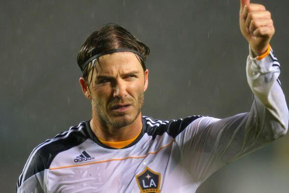 Por su parte David Beckham (con nuevo corte de cabello) y el Galaxy igua...