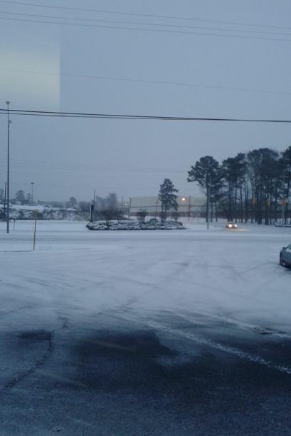 Desde Alabama, Byron Tista comparte este hermoso panorama nevado.