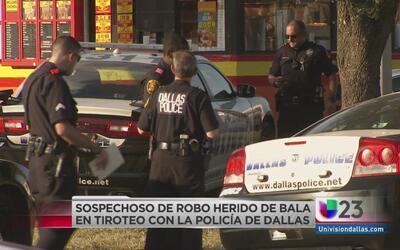 Sospechoso de robo herido de bala por policía