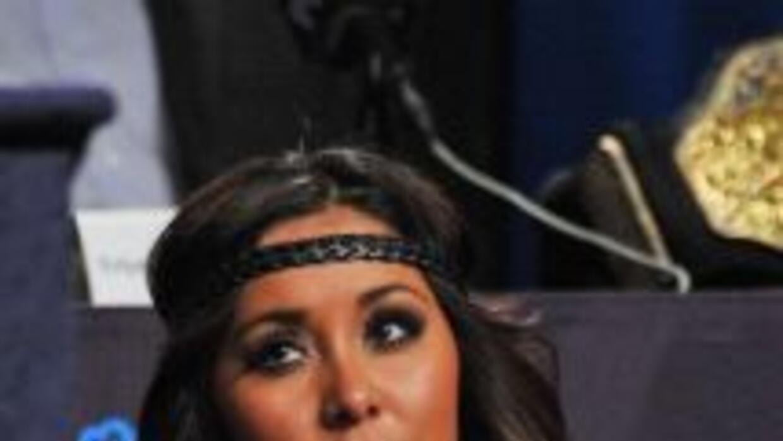Nicole Polizzi, mejor conocida como 'Snooki' en el programa Jersey Shore...