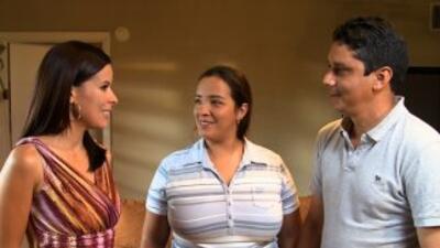 Raquel y Max Arcaya con Claudia Caporal