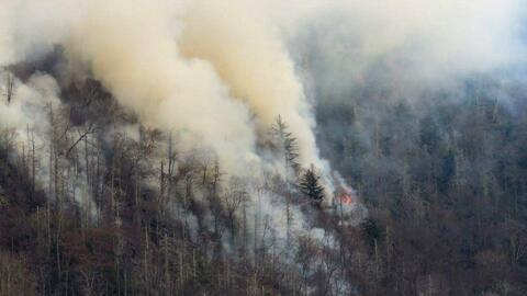 Decenas de personas han sido evacuadas en Tennessee por los incendios fo...