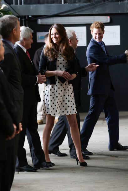 Y parece que el príncipe Harry ya ansiaba entrar a los estudios.