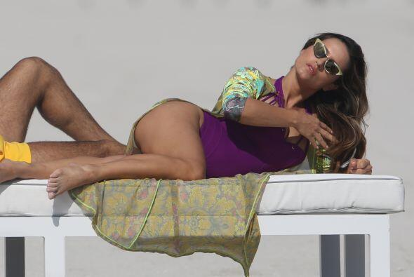 Esta vez las cámaras la captaron en las playas de Miami.