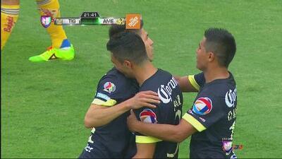 América continúa en la senda de la victoria, derrotó a Tigres de visitante
