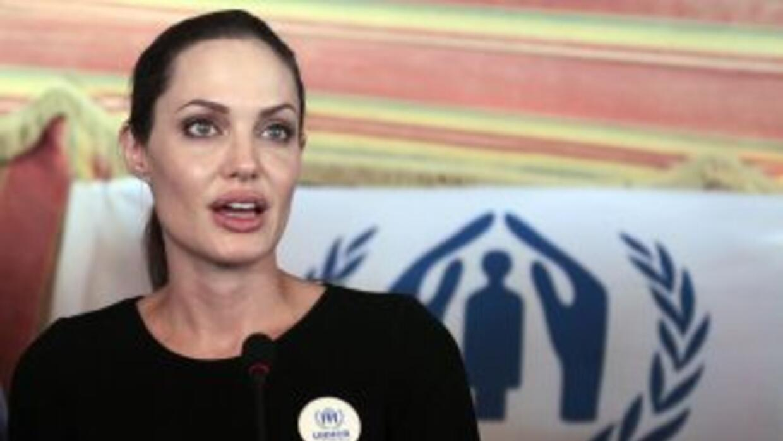 La actriz estadounidense Angelina Jolie hizo un llamamiento a la comunid...