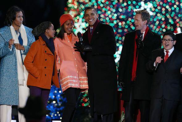 El presidente Obama recordó también a las víctimas...