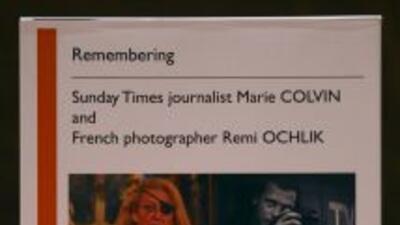 Los periodistas Remi Ochlik y Marie Colvin perdieron la vida en Siria.