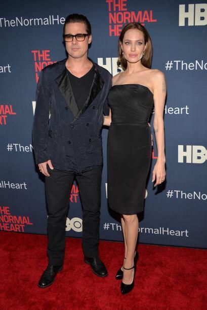 "La pareja posó junta en la alfombra roja, sin notar el ""pequ..."
