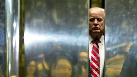 President Donald Trump in Trump Tower in New York.