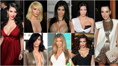 Kim Kardashian y sus cambios de look más notables a través...