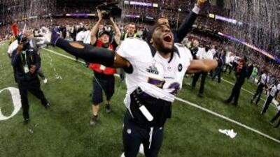Ray Lewis ganó su segundo Super Bowl.