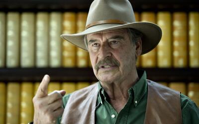 El ex presidente mexicano Vicente Fox hoy dedica su tiempo al Centro Fox...