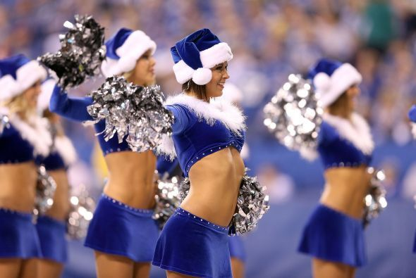 Lindas imágenes de las cheerleaders de los Colts. De azul, hermosas, sex...