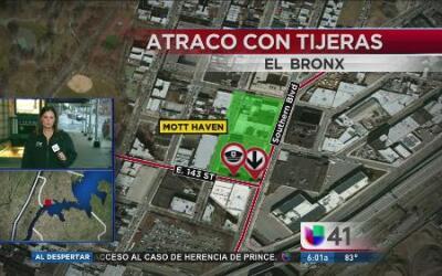 Individuo asalta a pasajero del metro en El Bronx usando unas tijeras