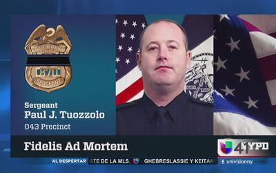 Comienza el velatorio del sargento baleado por un sospechoso en El Bronx