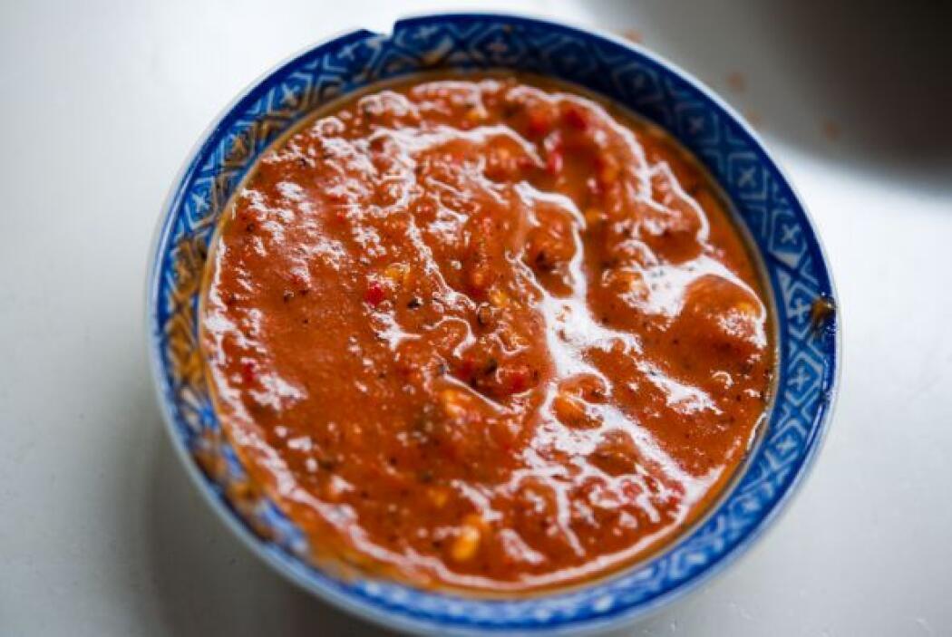 SALSA MEXICANA CON TOMATE: Esta receta es fantástica porque da sabor a t...
